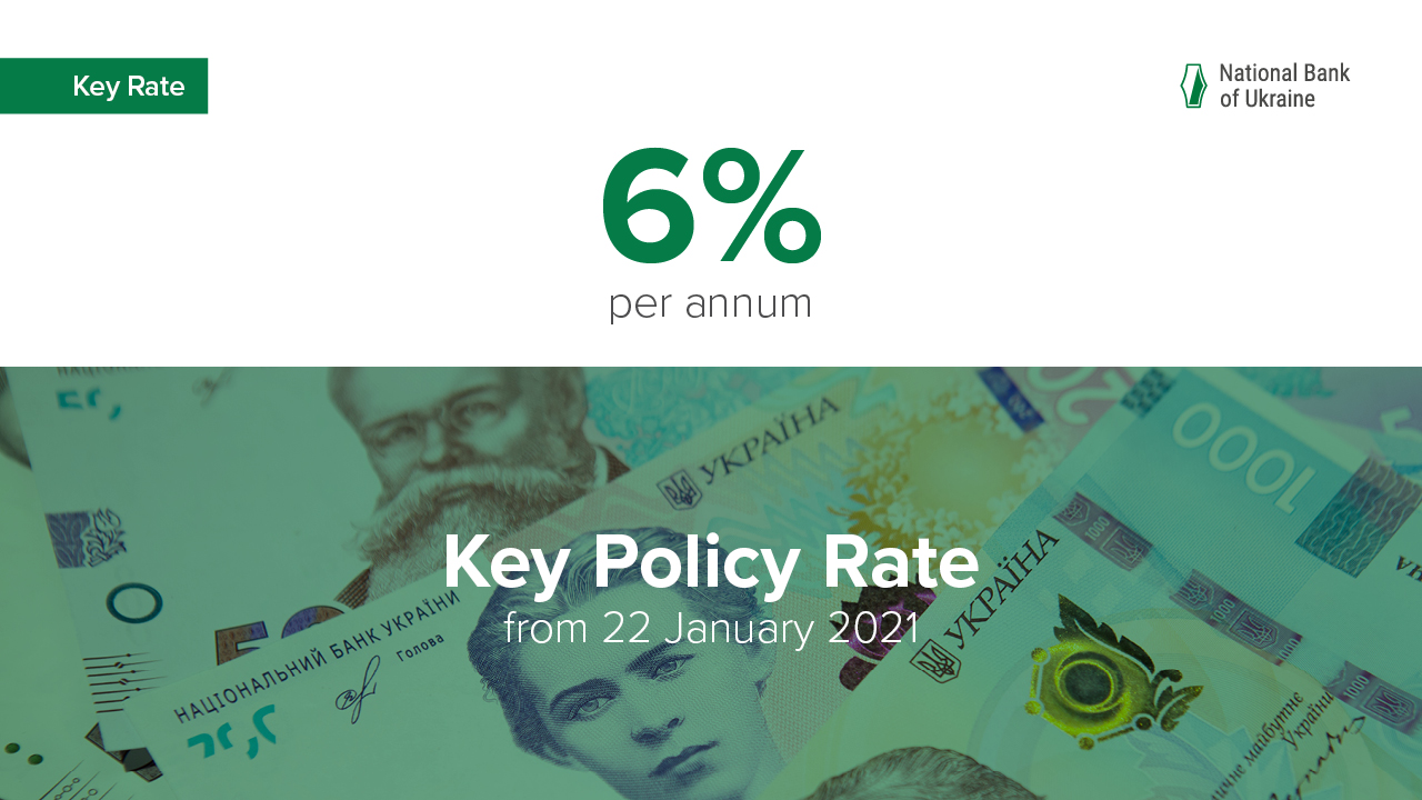 NBU Leaves Its Key Policy Rate Unchanged at 6%